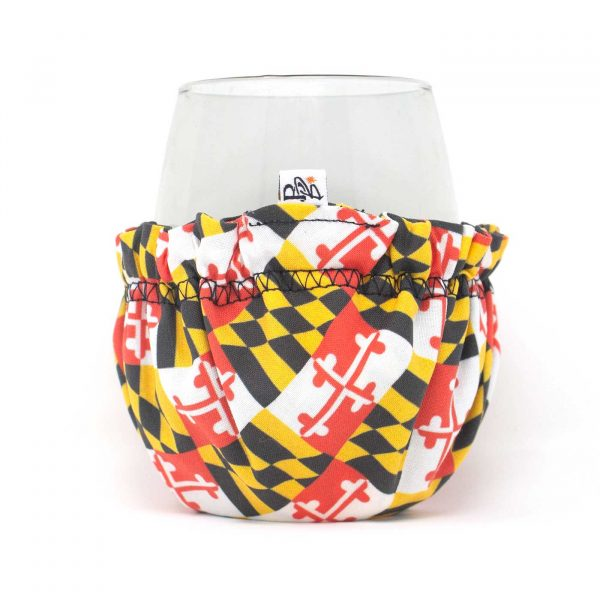 annapolis; bar; beverage; beverage bonnet; christmas; cocktail; cotton; drink; gift; hand sewn; handmade; present; retro; small business; shop small; maryland flag; black eyed susan